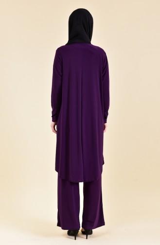 Sequined Sandy Suit 19461-01 Purple 19461-01