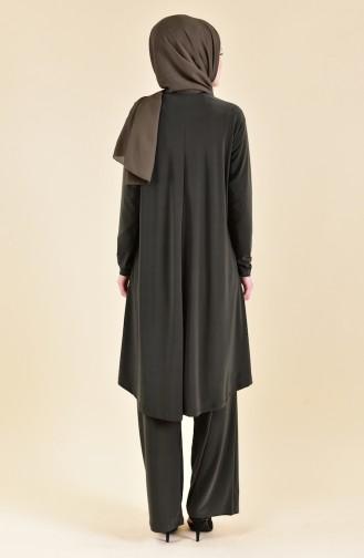 Sequined Sandy Suit 19461-04 Khaki 19461-04
