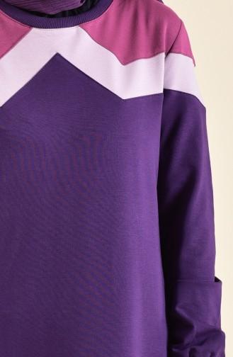 Garnili Spor Elbise 8360-02 Mor
