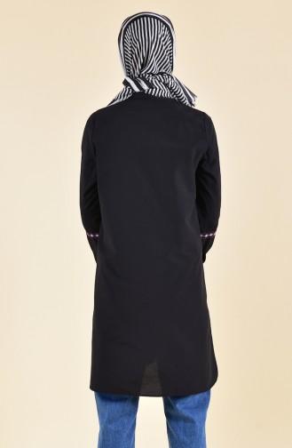 Nakışlı Tunik 8223-08 Siyah