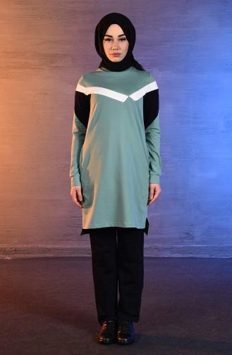 بي وست بدلة رياضية بتصميم جيوب 8344-04 لون اخضر 8344-04