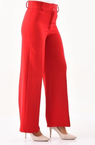 Bol Paça Pantolon 2053-01 Kırmızı