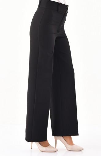 Wide Leg Pants 2053-06 Black 2053-06