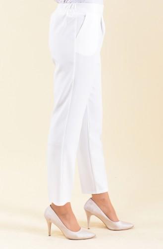 Pantalon Avec Poches 0881-01 Blanc 0881-01