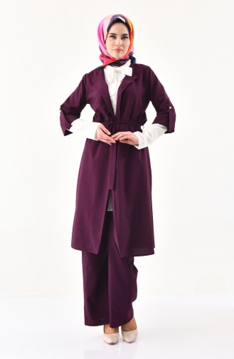 Cape Pants Binary Suit 1199-03 Purple 1199-03