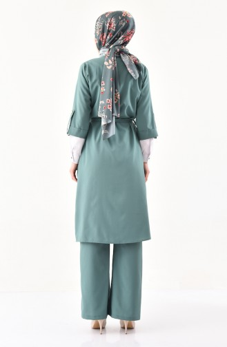 Cape Pants Binary Suit 1199-05 Almond Green 1199-05