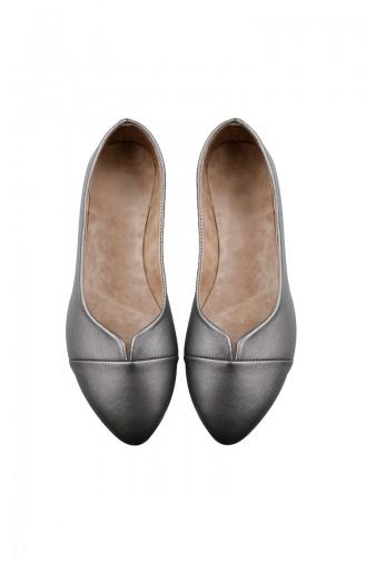 حذاء مُسطح نسائي باليرينا 0113-08 لون فضي 0113-08