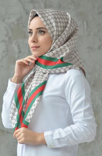 Dijital Baskılı Eşarp 95067-05 Kum Beji