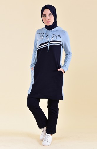 BWEST Printed Tracksuit 8343-06 ice Blue 8343-06