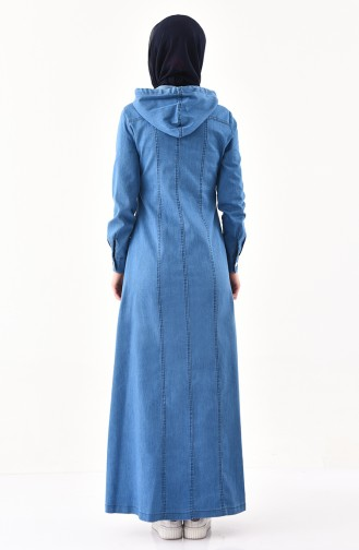 Pardessus Jean a Capuche 9050-02 Bleu Jean 9050-02