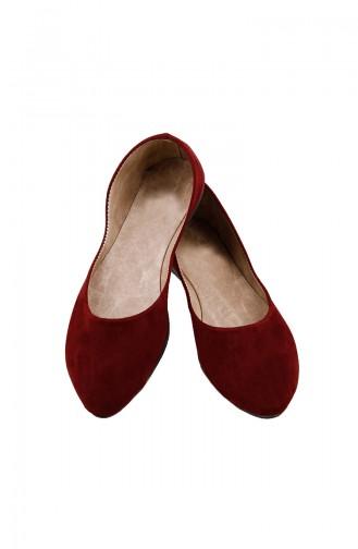 حذاء مُسطح نسائي باليرينا 0114-11 لون خمري 0114-11