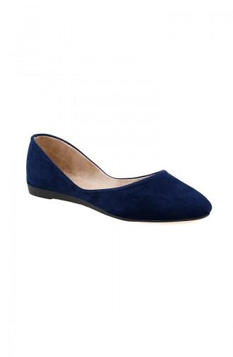 حذاء مُسطح نسائي باليرينا 0114-12 لون كحلي 0114-12