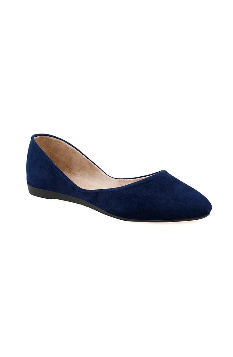 bfd1f9bea حذاء مُسطح نسائي باليرينا 0114-12 لون كحلي 0114-12