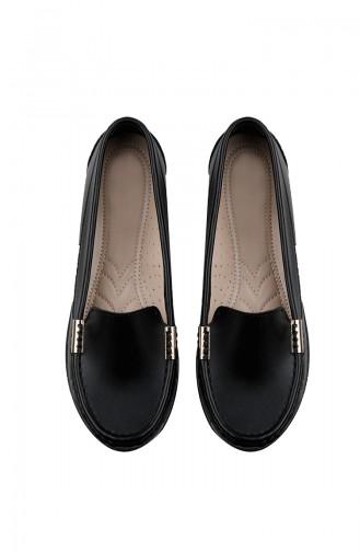 Black Woman Flat Shoe 0150-01