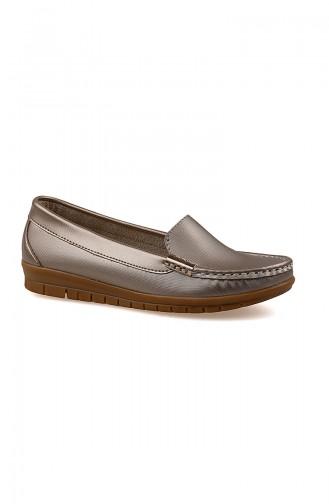 حذاء مسطح ذهبي 0150-02