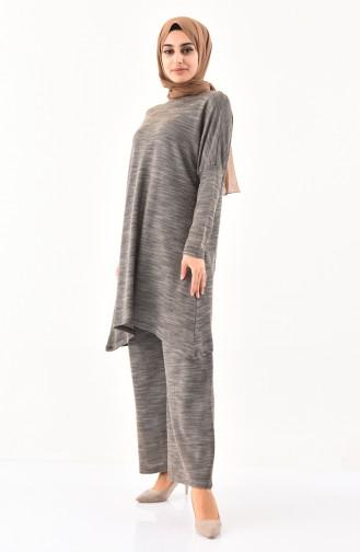 Bat Sleeve Tunic Pants Binary Suit 7811-01 Dark Mink 7811-01