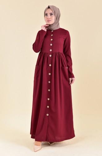 329ec7145a15d Bordo Tesettür Elbise Modelleri ve Fiyatları - Tesettür Giyim ...