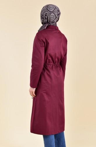 Beli Elastic Trench Coat 5115-05 Bordeaux 5115-05