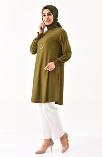 Necklace Tunic 1017-03 Khaki 1017-03
