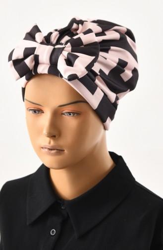 Patterned Bow Bonnet 1031-05 Black Powder 1031-05