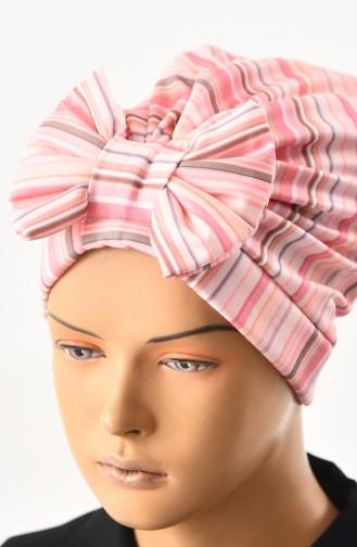 Bonnet a Motifs et Noeud 1031-06 Poudre Clair 1031-06