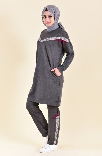 BWEST Striped Tracksuit 9002-04 Anthracite 9002-04