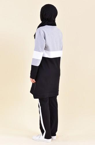 Eşofman Takım 19002-03 Gri Siyah