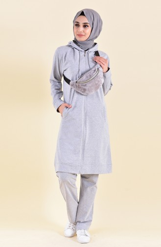 Zippered Tracksuit 30100-03 Gray 30100-03