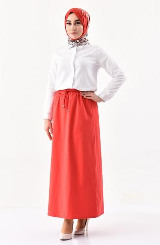 DURAN Elastic Waist Skirt 1202-07 Red 1202-07