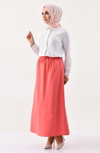 DURAN Elastic Waist Skirt 1202-08 Coral 1202-08