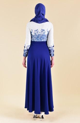 Robe de Soirée 1047-01 Bleu Roi 1047-01