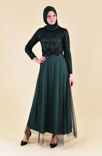 Emerald Islamic Clothing Evening Dress 3851-08