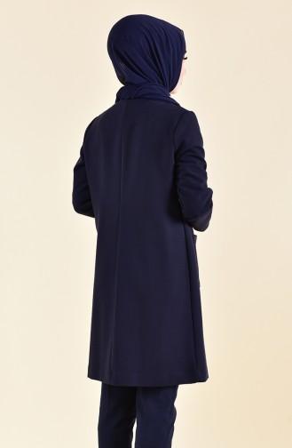 DURAN Pocketed Jacket 8006-01 Navy Blue 8006-01