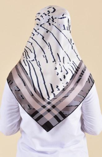 Patterned Silk Scarf 95249-04 Beige 95249-04