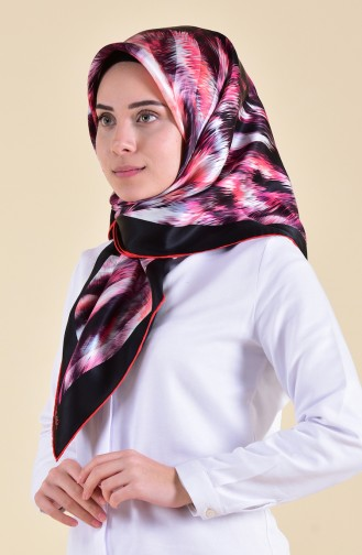 Patterned Silk Scarf 95250-01 Pink 95250-01