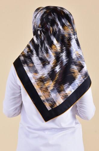 Patterned Silk Scarf 95250-03 Mink 95250-03
