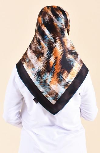 Patterned Silk Scarf 95250-04 Brown 95250-04