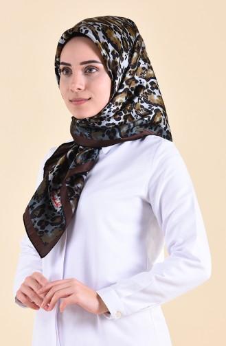 Patterned Silk Scarf 95251-05 Brown 95251-05