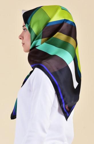 Patterned Silk Scarf 95253-01 Black Saks 95253-01