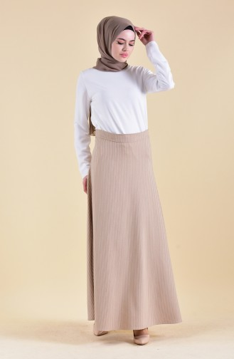 Striped Crepe Skirt 8148-04 Mink 8148-04