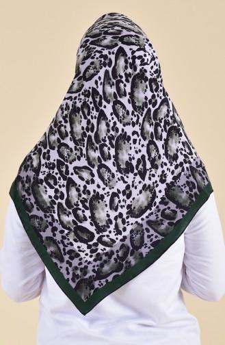 Patterned Silk Scarf 95251-04 Khaki 95251-04