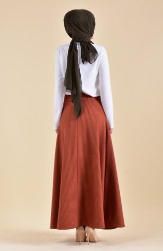 Striped Crepe Skirt 8148-05 Tile 8148-05
