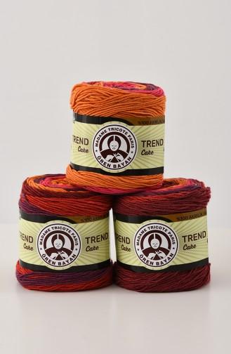 Ören Bayan Trend Cake Fils a Tricoter 3025-625 Rose Orange 3025-625