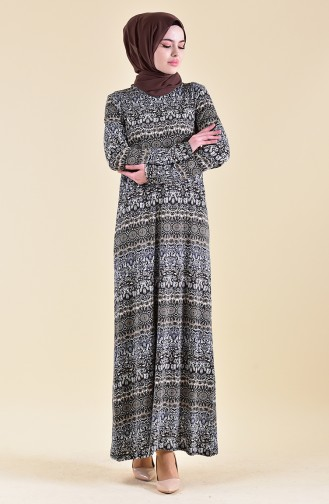 Pattern Dress 99182B-01 Khaki 99182B-01