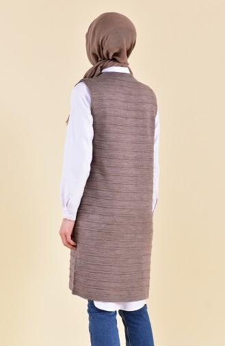 iLMEK Fine Knitwear Pocketed Vest 4125-01 Mink 4125-01