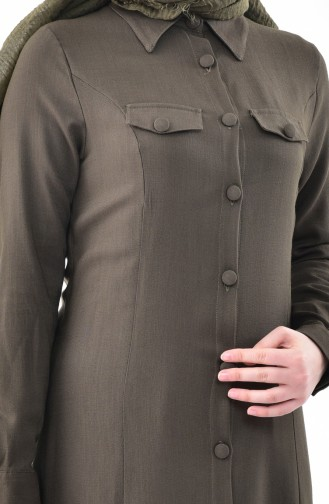 Khaki Abaya 4110-01