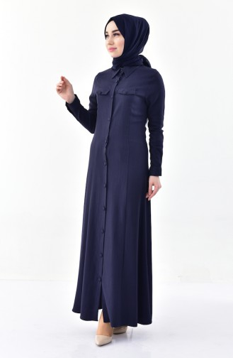 Dunkelblau Abayas 4110-03