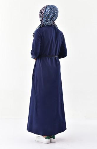 Robe a Ceinture 1280-01 Bleu Marine 1280-01