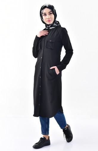 Pocketed Tunic 4111-02 Black 4111-02