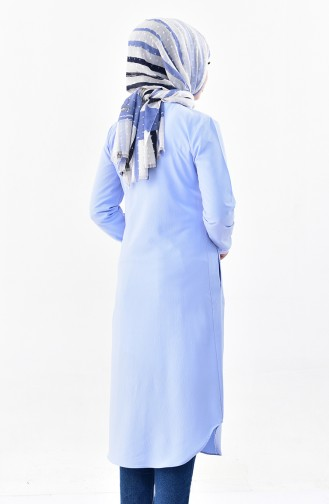 Pocketed Tunic 4111-06 Baby Blue 4111-06
